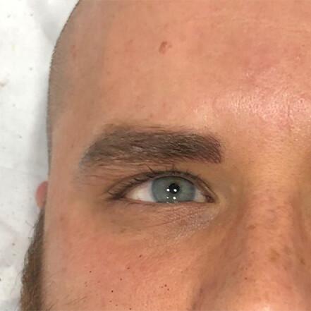 Microblading Roma Dopo uomo iconic brows